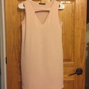 Pink Boohoo dress